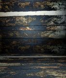 3d wall with wooden texture planks, empty interior Royalty Free Stock Photo