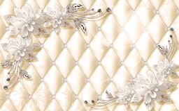 Free 3D Wallpaper Design For Photomurals With Jewels And Upholstry Royalty Free Stock Photography - 118688507