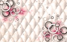 Free 3D Wallpaper Design For Photomurals With Jewels And Upholstry Royalty Free Stock Photos - 118688578