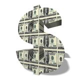 3d waluta symbol Obrazy Stock
