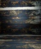 3d Wand mit hölzernen Beschaffenheitsplanken, leerer Innenraum Lizenzfreies Stockfoto