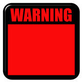 3D Warning Sign. Isolated in white Royalty Free Stock Photography