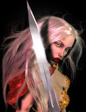 3d Warrior. An interesting illustration of a warrior girl Royalty Free Stock Photography