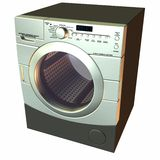 3D Washer. 3 D Computer Render of an Washer Royalty Free Stock Photography