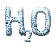 3D water drop letter H2O Stock Photography