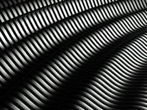 3d wavy aluminium background abstract Royalty Free Stock Photo