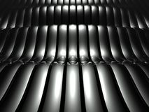 3d wavy aluminum background abstract Stock Photos