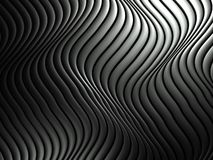 3d wavy aluminum background abstract pattern Stock Photos