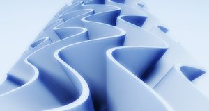3d wavy background Royalty Free Stock Images