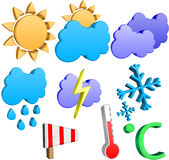 3d weather icons Stock Photo