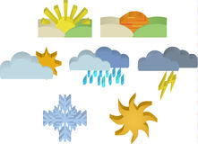3d Weather Icons Stock Images