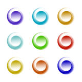 3d web button set for user interface. 3d multicolored web button set for user interface and website Royalty Free Stock Photos