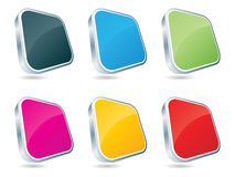 3d web buttons Stock Photography