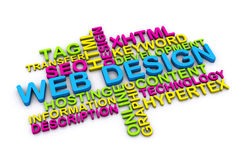 3d web design concept Royalty Free Stock Photography