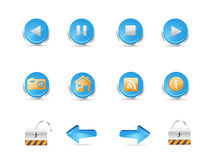3D web icons Royalty Free Stock Photo