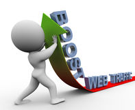 3d web traffic boost Royalty Free Stock Images