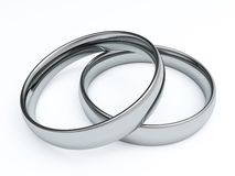 3D Wedding Rings Stock Image