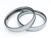 3D Wedding Rings. Render illustration Stock Image