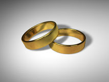 3D Wedding Rings Royalty Free Stock Image