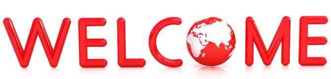 3d welcome Stock Images