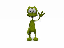 3d welcome alien pose Royalty Free Stock Photography