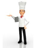 3D welcoming chef Royalty Free Stock Images