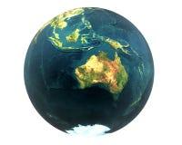 3D Welt Australien Stockfotos