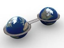 3d-wereld Royalty-vrije Stock Afbeeldingen