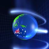 3D Wereld - Australië Stock Foto