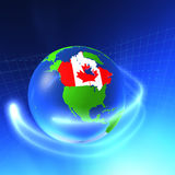 3D Wereld - Canada Stock Illustratie