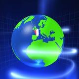 3D Wereld - Frankrijk Stock Illustratie