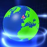 3D Wereld - het UK Royalty-vrije Illustratie