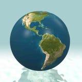 3D Wereld van Latijns Amerika Royalty-vrije Stock Afbeelding