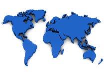 3d wereldkaart stock illustratie