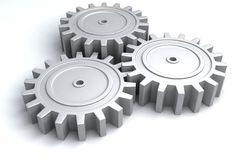 3d wheel gears Royalty Free Stock Image
