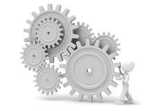 3d wheel gears Stock Photography