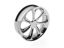 3D Wheel polished. Isolated 3D Wheel polished with white background Royalty Free Stock Photos