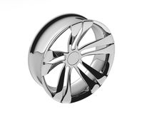 3D Wheel polished. Isolated 3D Wheel polished with white background Royalty Free Stock Photography