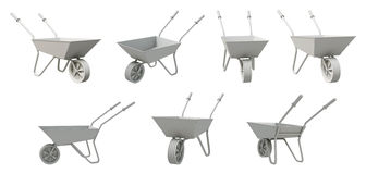 3D Wheelbarrow Stock Image