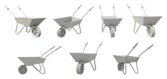 3D Wheelbarrow Stock Image