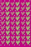 3D Whimsical Heart Background Royalty Free Stock Photography