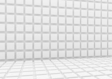 3d White background with cubes Stock Photography