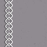 3d white border in arabic style. Vector illustration Stock Photography