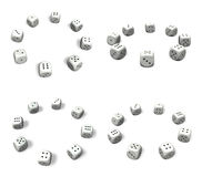 3d white dice array Stock Photo