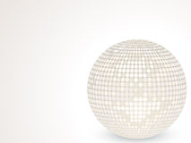 3d white disco ball Stock Image