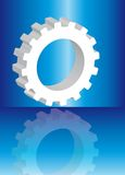 3d white gear Royalty Free Stock Photography