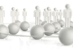 3d White Human Social Network Stock Images