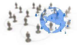 3d White Human Social Network Graphics Stock Photos