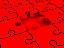 3D white jigsaw puzzles. Background. Work concept Royalty Free Stock Photos
