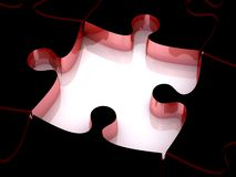 3D white jigsaw puzzles Royalty Free Stock Photography